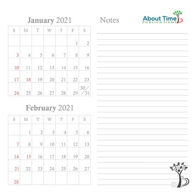 ATP Exclusive Calendar Grid Additional Months 2021